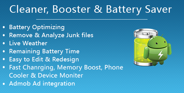 CodeCanyon Cleaner Booster & Battery Saver for Android 20705466