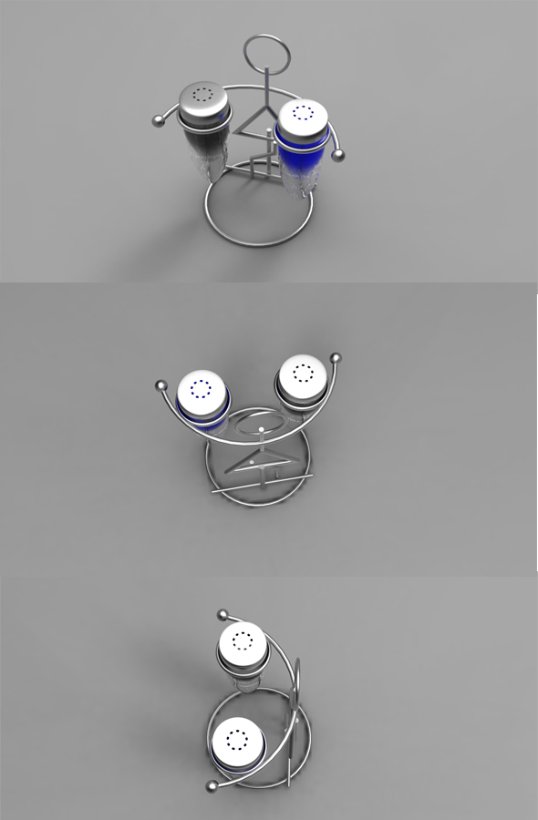 Salt and pepper cellar - 3DOcean Item for Sale