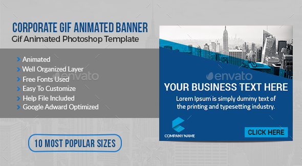 Corporate Gif Animated Banner - Banners & Ads Web Elements