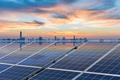 roof solar energy in sunset