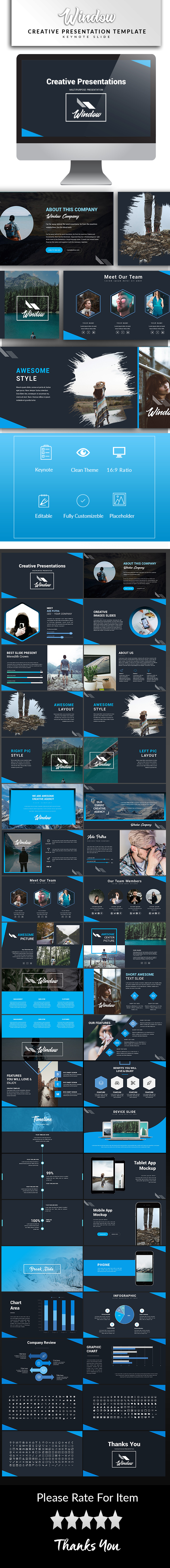 Window Keynote Template - Keynote Templates Presentation Templates