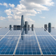 solar energy with city skyline - PhotoDune Item for Sale