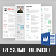Clean Resume & Cover Letter Bundle