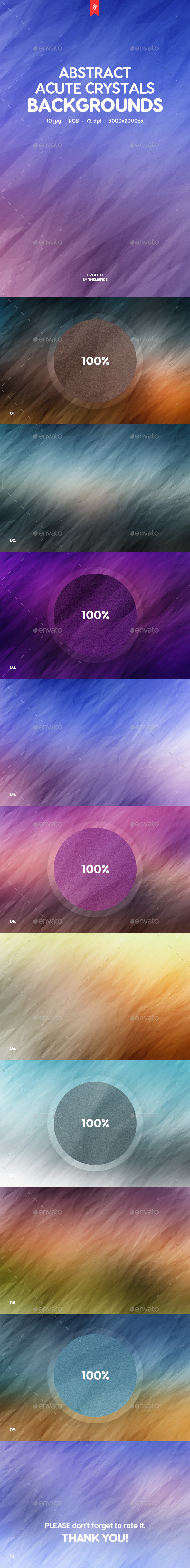 Acute Crystals Backgrounds