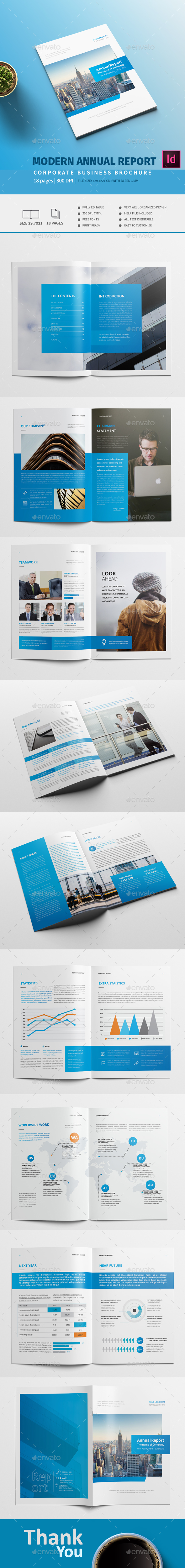 Modern Annual Report A4 - Corporate Brochures