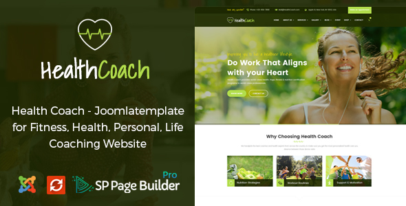 Image of Health Coach - Joomla Template for Fitness, Health, Personal Life Coaching