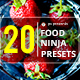 20 Food Ninja Premium Presets - GraphicRiver Item for Sale