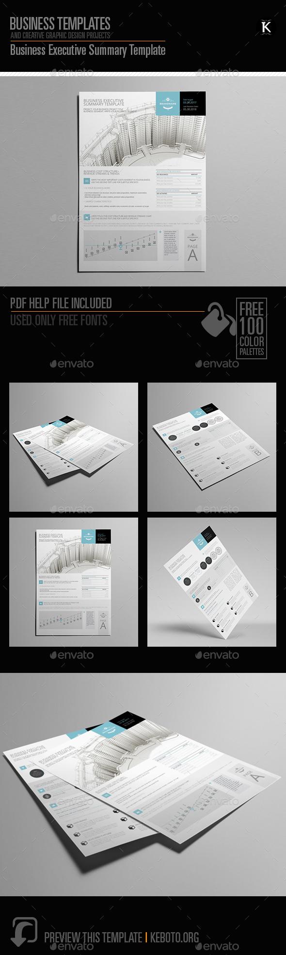 Business Executive Summary Template - Miscellaneous Print Templates