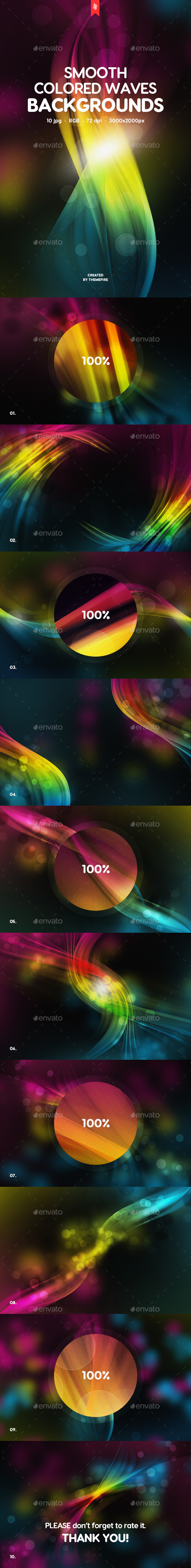 Smooth Colored Waves Backgrounds
