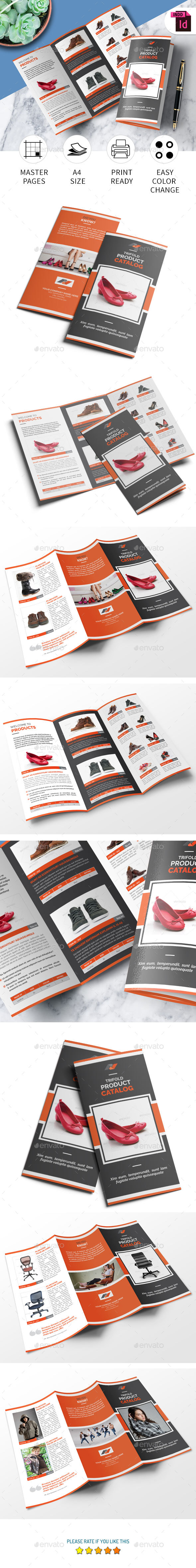 Tri-fold Product Catalog Template - Catalogs Brochures
