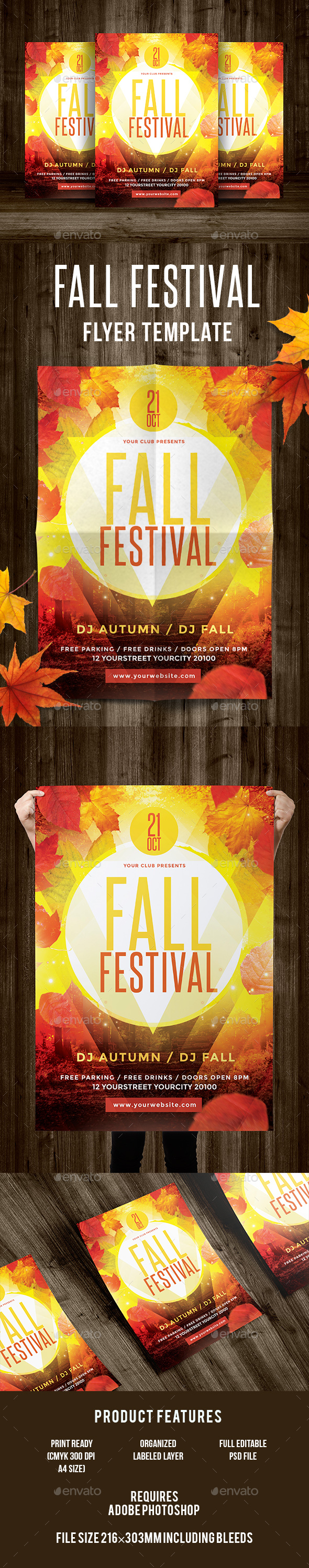 Fall Festival Flyer - Events Flyers