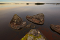 Finland landscape with lake and rocks at sunset. Koli. Pielinen  - PhotoDune Item for Sale