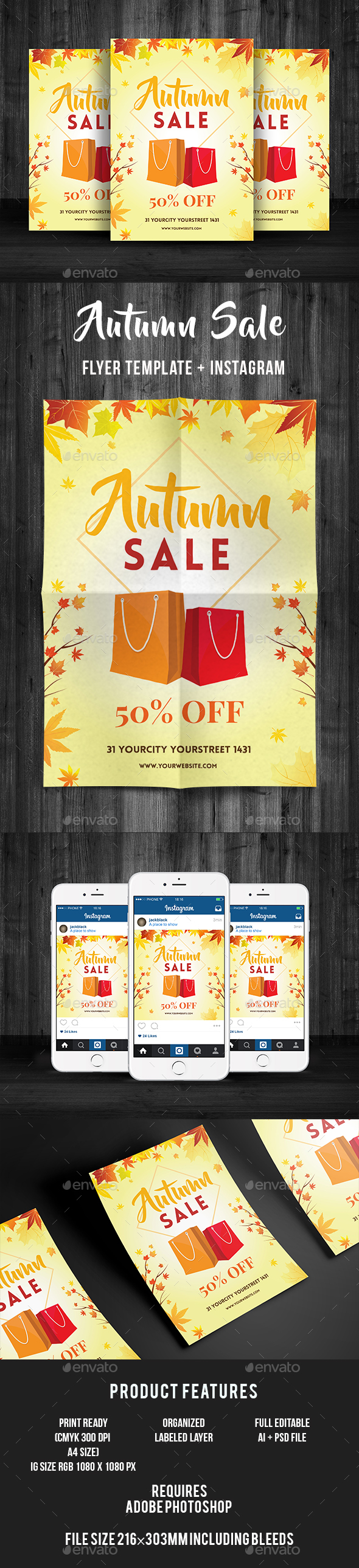 Autumn Sale Flyer - Commerce Flyers