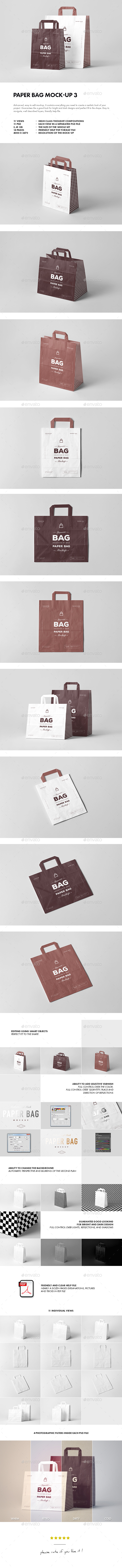 Paper Bag Mock-up 3 - Miscellaneous Packaging