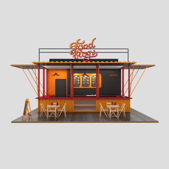 3DOcean 3D Cafe Design 20706558