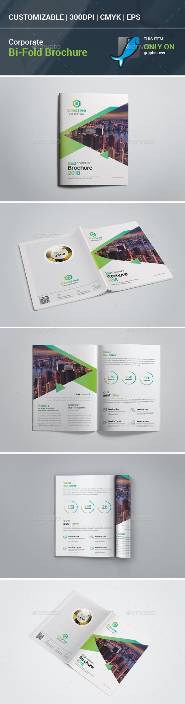 Bi-Fold Brochure - Stationery Print Templates
