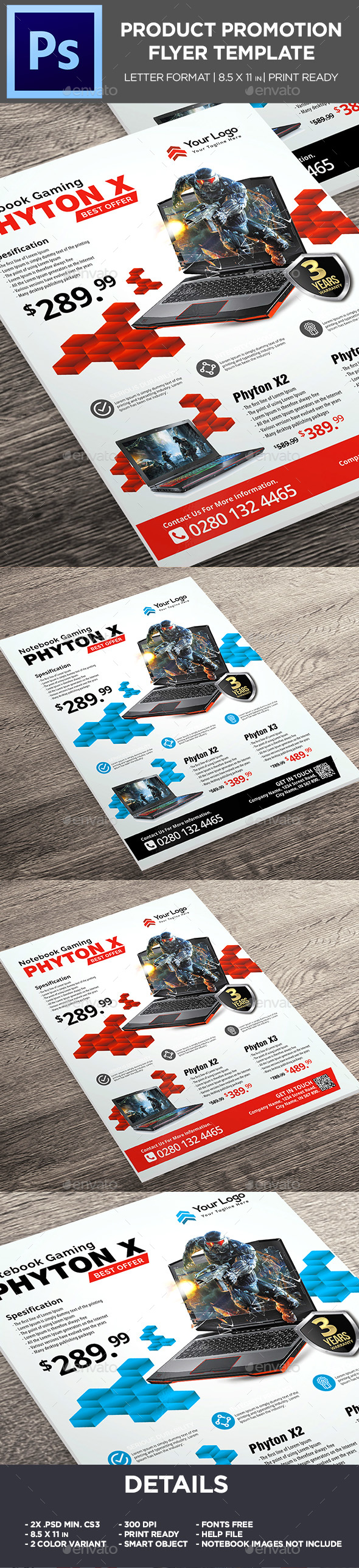 GraphicRiver Product Flyer Notebook Corporate Promotion Flyer 20706571