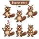 Vector Set of Beaver Characters Set 1