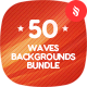 50 Abstract Waves Backgrounds Bundle - GraphicRiver Item for Sale