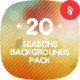 20 Seasons Blur Backgrounds Pack - GraphicRiver Item for Sale