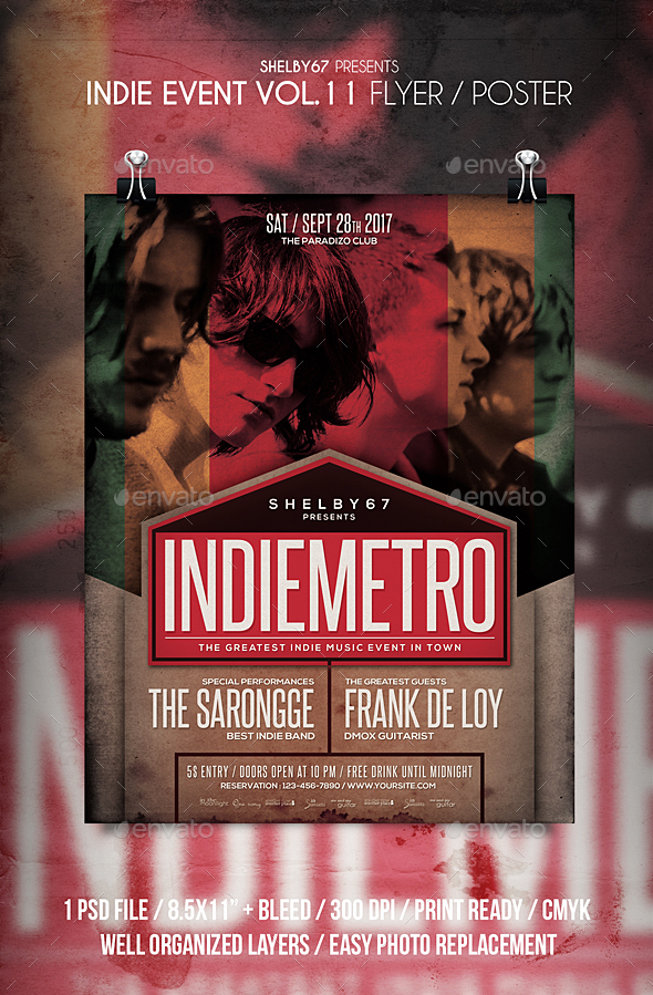Indie Event Flyer / Poster Vol 11 - Events Flyers