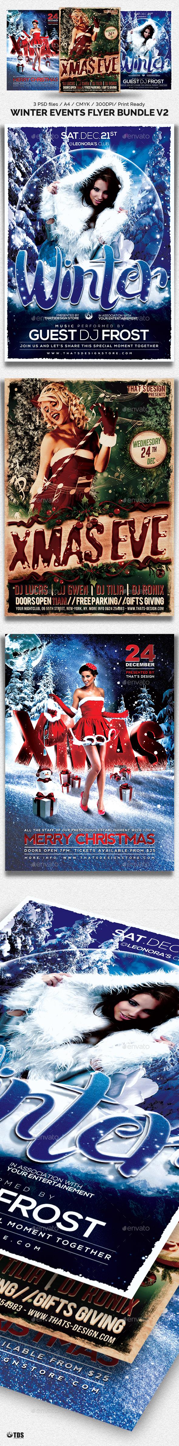 Winter Events Flyer Bundle V2 - Holidays Events