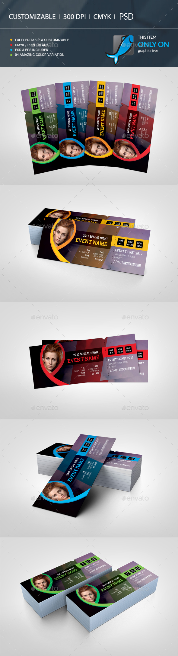 GraphicRiver Event Ticket 20706755