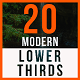 20 Modern Lower Thirds