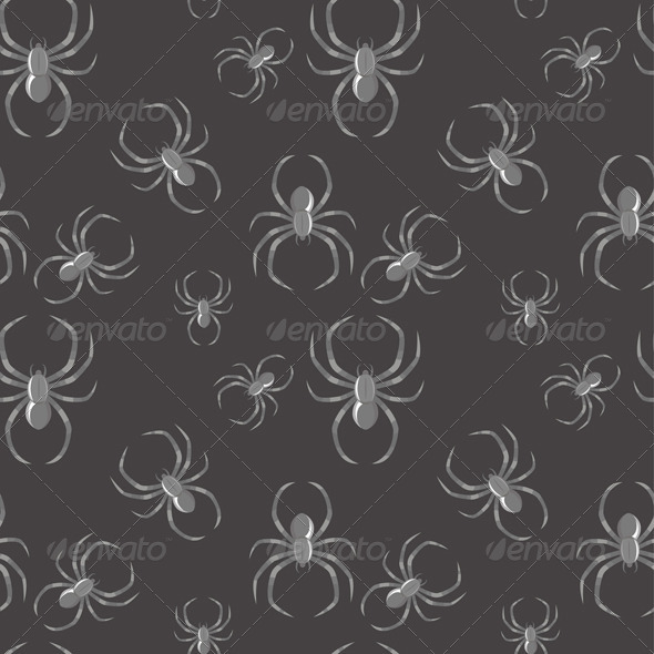 Spider Seamless Pattern Gothic Background - Backgrounds Decorative