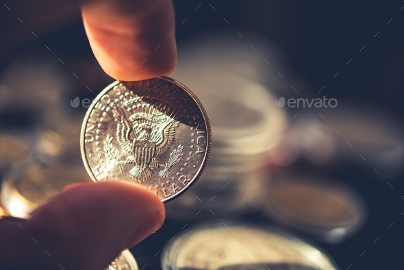 Silver American Half Dollar - Stock Photo - Images