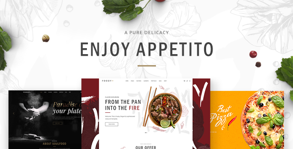 Appetito - Theme for Fast Food Restaurants and Cafés - Restaurants & Cafes Entertainment