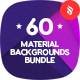 60 Material Design Backgrounds Bundle - GraphicRiver Item for Sale