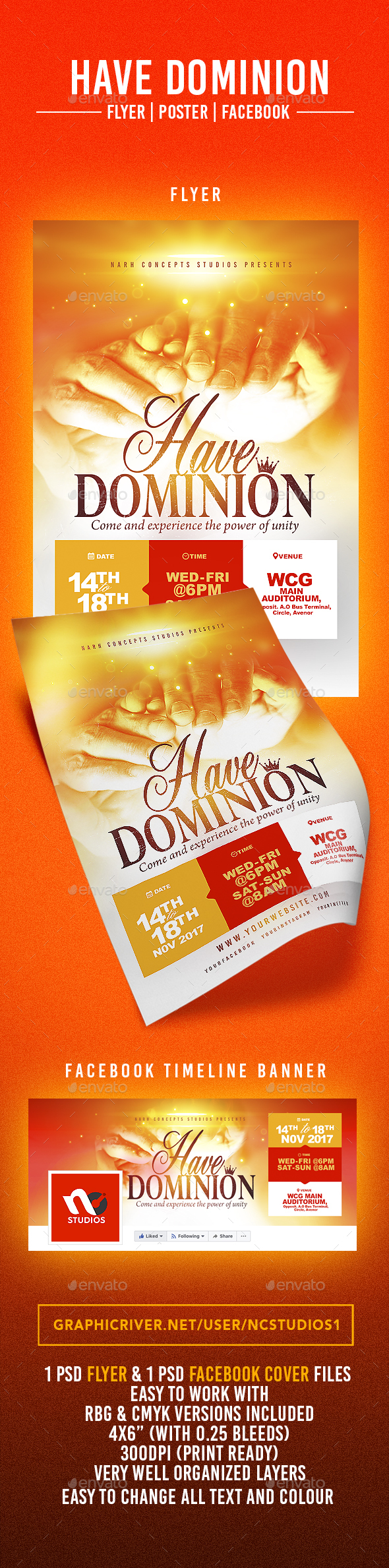 Have Dominion - Flyers Print Templates