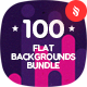 100 Abstract Flat Backgrounds Bundle - GraphicRiver Item for Sale
