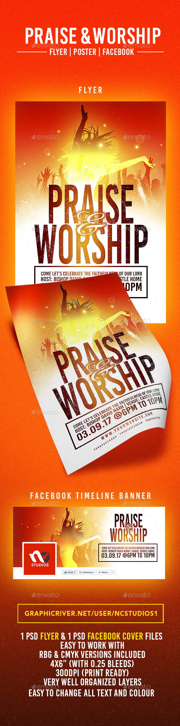 Praise & Worship Flyer Template - Events Flyers