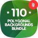 110 Abstract Different Polygonal Backgrounds Bundle - GraphicRiver Item for Sale