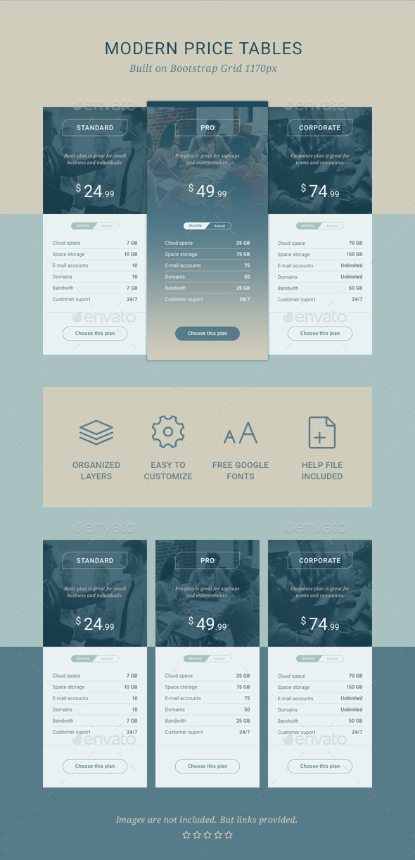 GraphicRiver Modern Price Tables 20697298