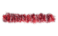 Christmas red silver tinsel. Isolated on a white background - PhotoDune Item for Sale