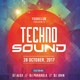 Techno Sound - PSD Flyer Template - GraphicRiver Item for Sale