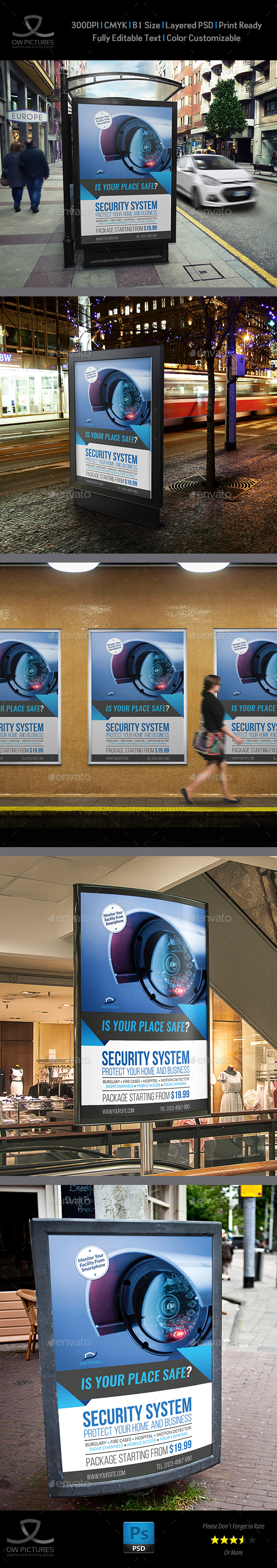 Security System Poster Template Vol.2 - Signage Print Templates