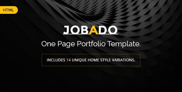 Fabulous JOBADO - Responsive Dark Portfolio HTML Template