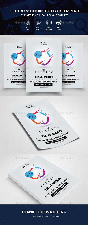 GraphicRiver Futuristic Psd Flyer Templates 20707640