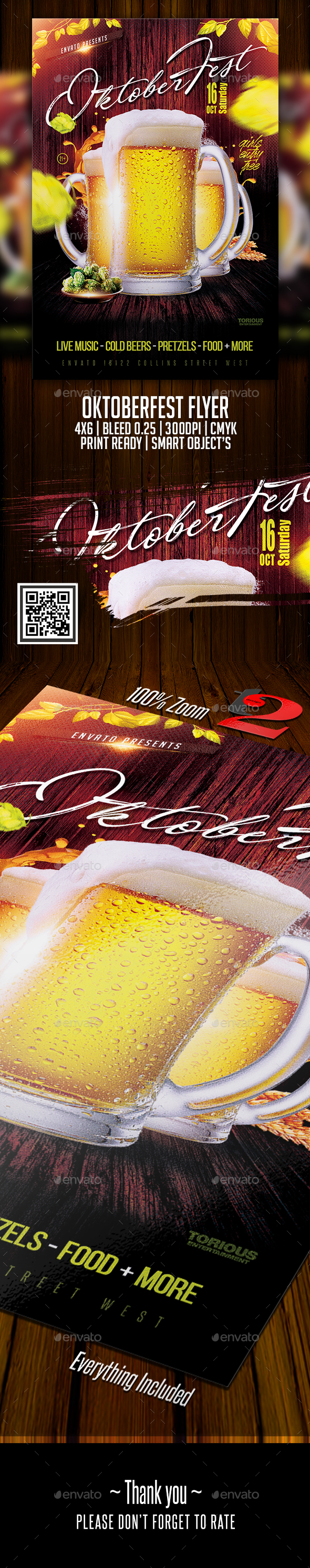 Oktoberfest Flyer Template - Holidays Events
