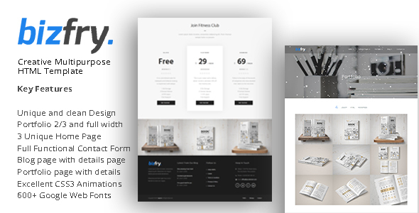 Bizfry - Creative Multipurpose HTML Template - Business Corporate