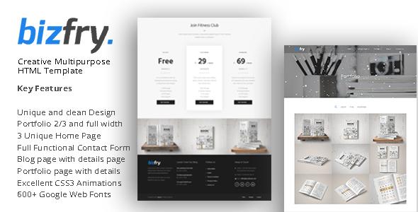 Bizfry - Creative Multipurpose HTML Template - Business Corporate corporeal - personal portfolio & cv html template (personal) Corporeal – Personal Portfolio & Cv Html Template (Personal) 01 preview 590x300 bizfry