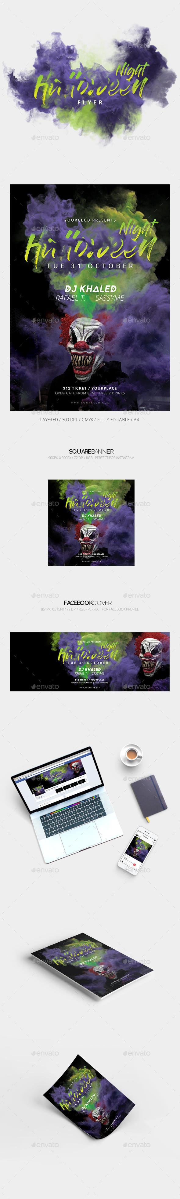 Halloweenn Party Flyer - Events Flyers