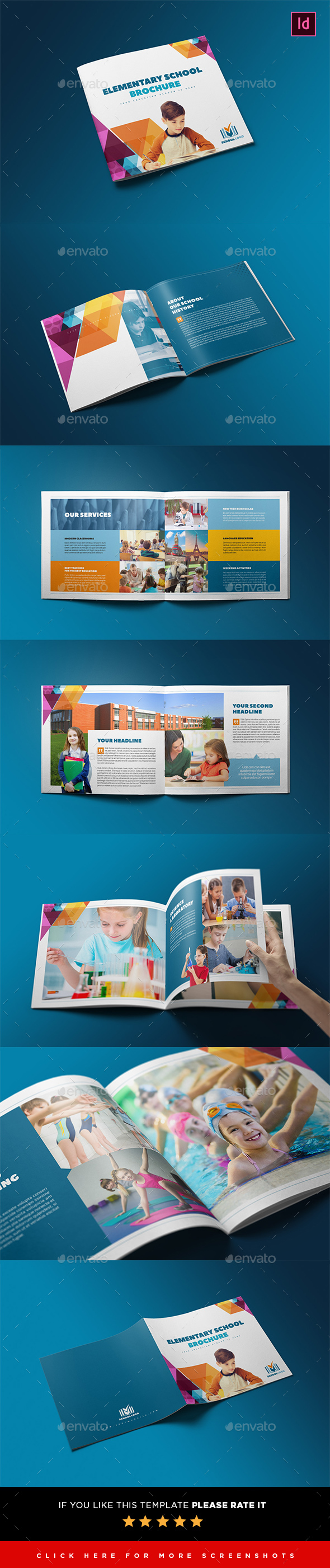 elementary school brochure template - elementary school brochure template by interado graphicriver