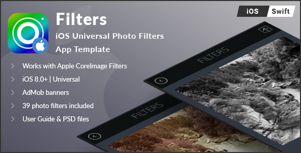 Filters   iOS Universal Photo Filters App Template (Swift) - CodeCanyon Item for Sale