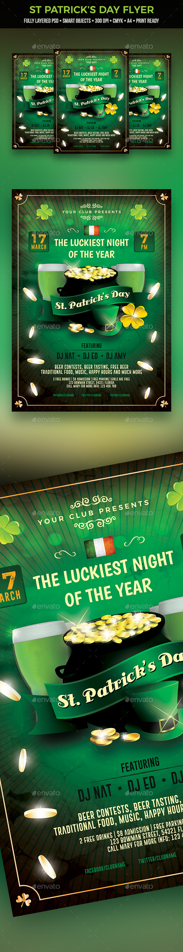 St Patricks Day Party Flyer - Clubs & Parties Events