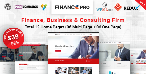 Finance Pro - Finance Business & Consulting WordPress Theme - Business Corporate
